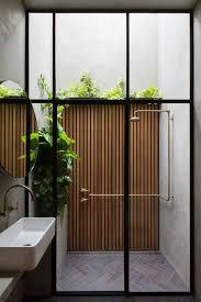 mid century outdoor lighting. love the idea of combining indoor bath and outdoor shower mid century lighting r
