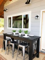 diy outdoor bar table free plans by ana white com