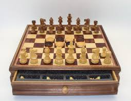 Wooden Board Game Sets Wooden Chess Checkers Set 80
