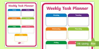 Planner Sheet Weekly Task Planning Sheet Weekly Task Planning Sheet Plan