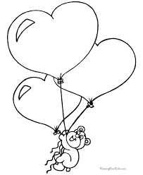 Small Picture Printable Valentine Bear Coloring Page 008
