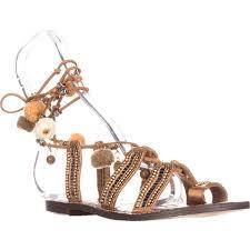 sam edelman graciela flat lace up sandals saddle leather