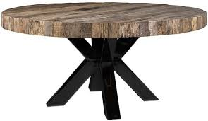 bodhi round dining table with black cross double legs 160cm