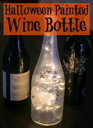 Decorative Wine Bottles With Lights Halloween Painted Wine Bottle Happily Hughes 84