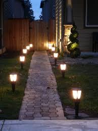 Simple Solar Brick Pathway Lights Backyard Lighting Solar