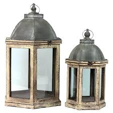candle lantern set large wooden lanterns candle lantern set with weathered wood frames small and candle lantern