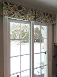 patio door window treatment using a simple decorative box pleat regarding valances for sliding glass doors