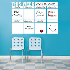 dry erase calendar decal for walls zoom