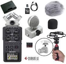 Sound Design Field Recorder Zoom H6 Six Track Portable Recorder Field Kit Camera