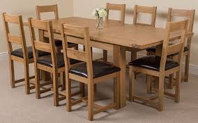 oak dining room sets. Seattle Solid Oak (180 Cm - 210 Cm) Extending Dining Table \u0026 8 Lincoln Chairs: Amazon.co.uk: Kitchen Home Room Sets