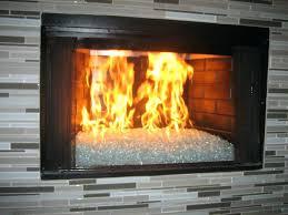 convert gas fireplace glass rocks inserts elegant ideas bathroom