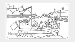 Kleurplaat Pakjesboot Sinterklaas