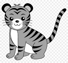 baby tiger clipart black and white. Modren Tiger Baby Animals Animal Free Black White Clipart Images  Tiger And L