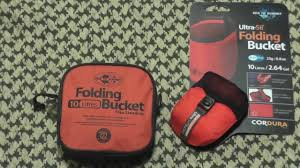 Sea To Summit Folding Bucket Youtube