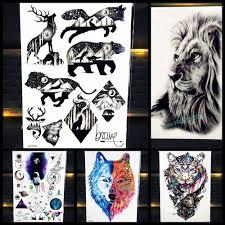 класный медведь зверь король водонепроницаемый временная татуировка