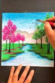 Pin by Grotty Roberto Fields on فيديوهات رسم [Video] in 2020   Painting art  projects, Amazing art painting, Nature art painting