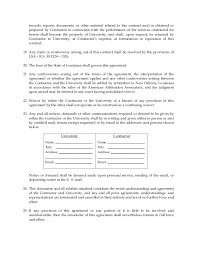Contract Service Agreement Stunning Dillard University Contractual Services Agreement Form