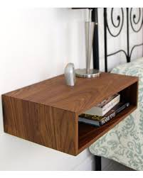 contemporary bedside tables. Modren Contemporary Floating Nightstand  MidCentury Modern Bedside Table In Solid Black Walnut Intended Contemporary Tables I