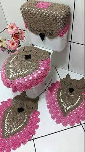 Crochet Owl Bathroom Set Pattern
