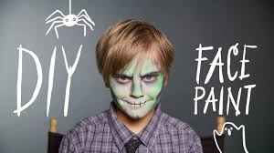 easy zombie makeup with face paint you premium