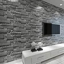 3D Rustic Brick Wallpaper 53cm x 1000cm ...