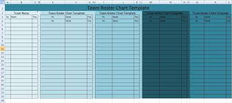 Team Roster Chart Template Excel Xls Project Management