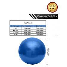 Yoga Ball Size Chart Yoga Ball 30 Blue 1 X Foot Pump
