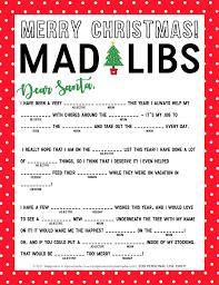 Christmas Mad Libs Printable - Happiness is Homemade