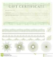 Download Gift Certificate Template Gift Certificate Voucher Template With Borders Stock Vector