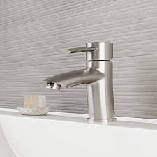 vigo vg01023bn bova 8 inch brushed nickel bathroom faucet single hole deck mount lavatory faucet with seven layer plated finish com