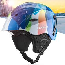 Rockbros Helmet With Lights Rockbros Integrated Mold Ski Helmet Winter Warm Ultra Light Breathable Bike Helmet Riding Skiing Helmet Sports Safety Equipment