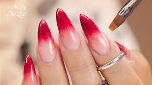 Nail Designs Red Ombre Ombre Nails Created With Gel Polish