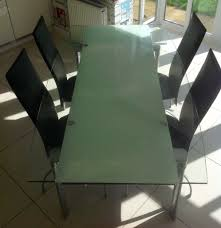 extending glass leaf modern dining table and chairs newton mearns glasgow 150 00 images map s i img com 00 s mtaynfg5oty