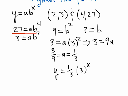 writing exponential equations given two points