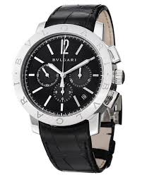 best bvlgari watches to own for men graciouswatch com chronograph automatic black leather bb41bsldch