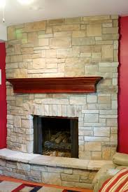 Mantel On Stone Fireplace Fireplace Picture Gallery North Star Stone