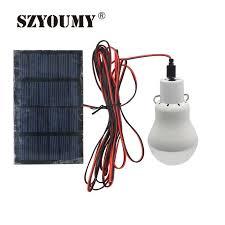 <b>SZYOUMY Solar Powered Led</b> Lighting System Light Lamp 1 Bulb ...