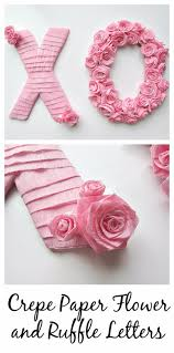 diy wall decor paper. DIY Wall Letters And Initals Art - Crepe Paper Flowers Ruffle Cool Diy Decor