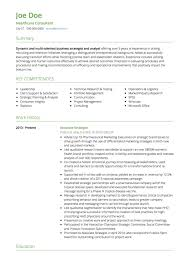 Consulting CV example