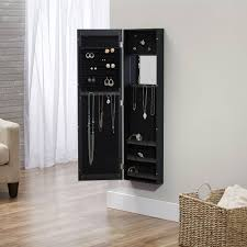innerspace over the door wall hang mirrored jewelry armoire com