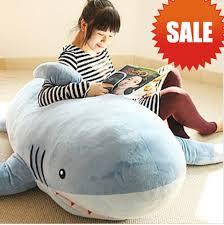 Huge Stuffed Plush Shark/ Sofa Cushion/ Throw Pillow