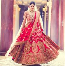 indian bridal looks wedding red