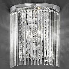 franklite charisma chrome crystal twin wall light fl2310 2