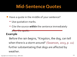 Quotes In A Sentence Fascinating How To Cite A Quote Enchanting Citing A Quote Thevillasco