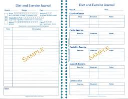 Food And Exercise Diary Food And Exercise Log Template Magdalene Project Org