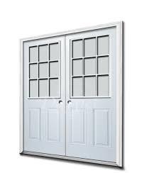 glass double door exterior. 9 Lite Half Clear Glass Steel Exterior Double Door