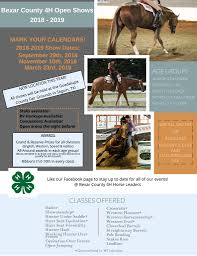 Events Bexar County 4h Open Show Series 3 March 2019 Seguin Tx