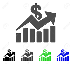 Sales Chart Icon Sales Bar Chart Trend Flat Vector Icon Colored Sales Bar Chart