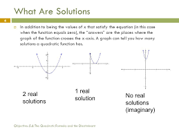 what are solutions 1 real solution 2 real solutions