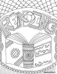 Small Picture Reading Coloring Pages Printables Classroom Doodles